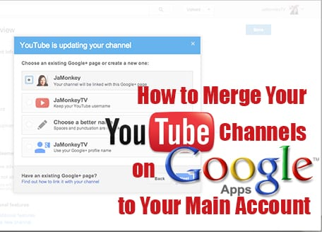 how to merge youtube channels