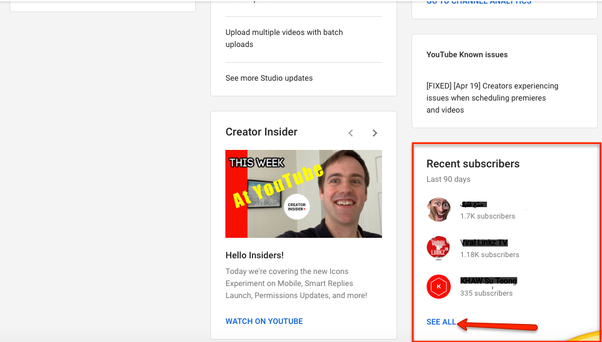 how to check who subscribed to you on youtube