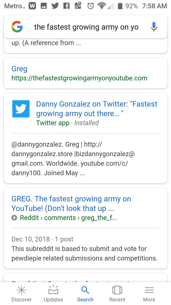 who is the fastest growing army on youtube