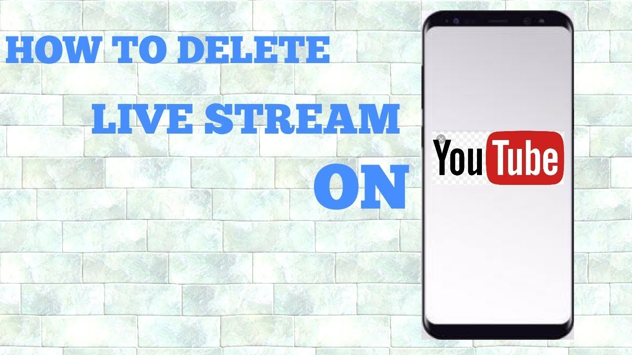 how to delete live stream on youtube