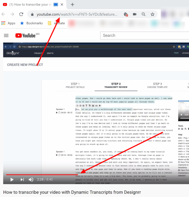 how to link time in youtube comment