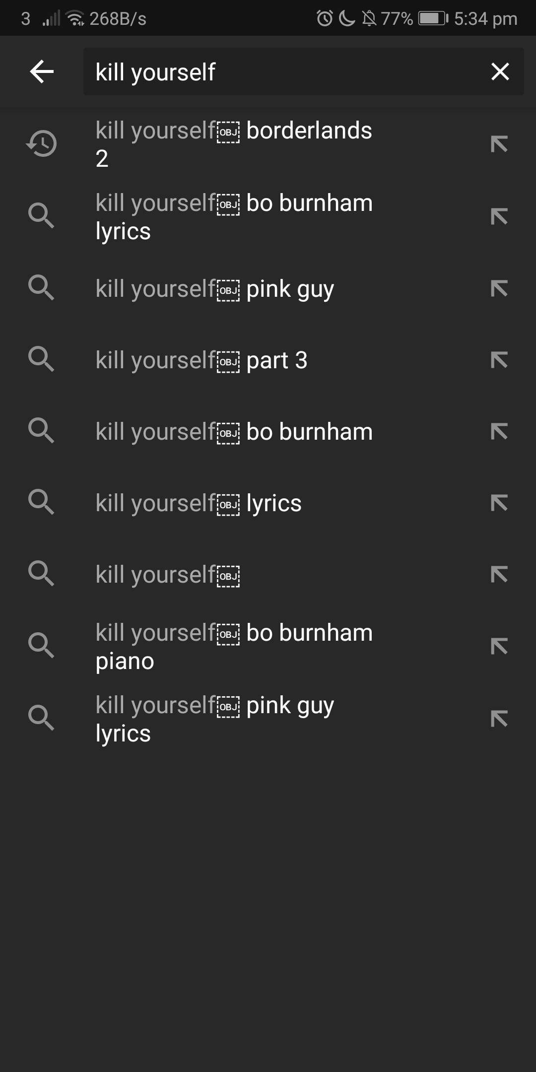 what does obj in a dotted box mean youtube