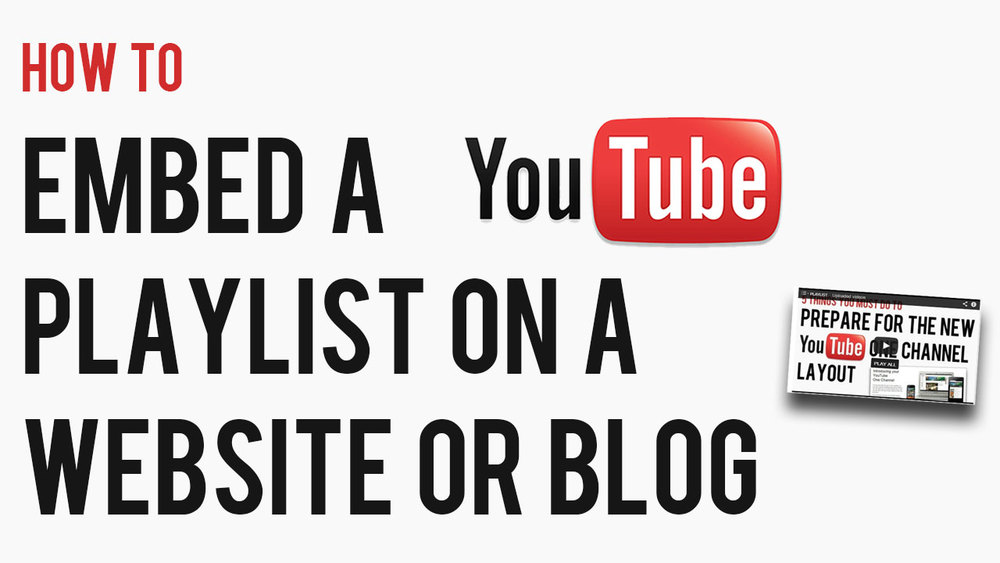 how to embed a youtube playlist