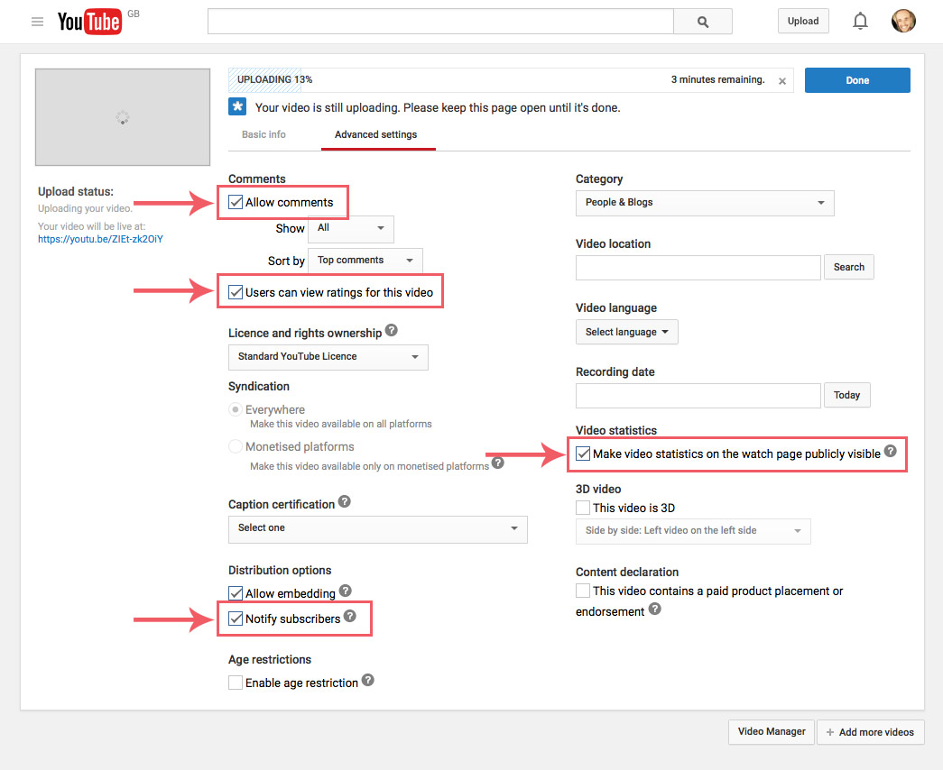how to create an unlisted youtube video